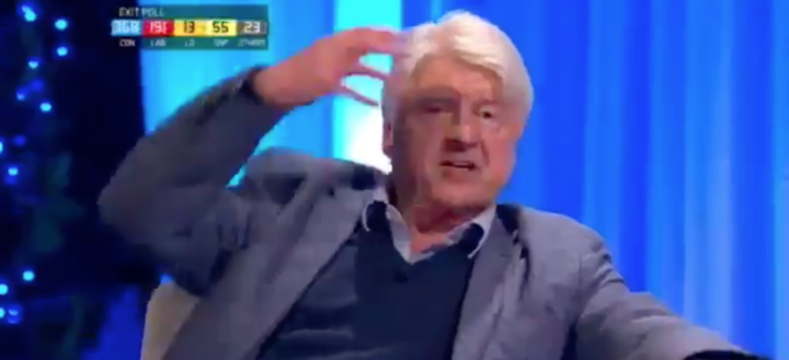 Stanley Johnson's suggestion about burkas did not go down well on the show (Picture: Channel 4)
