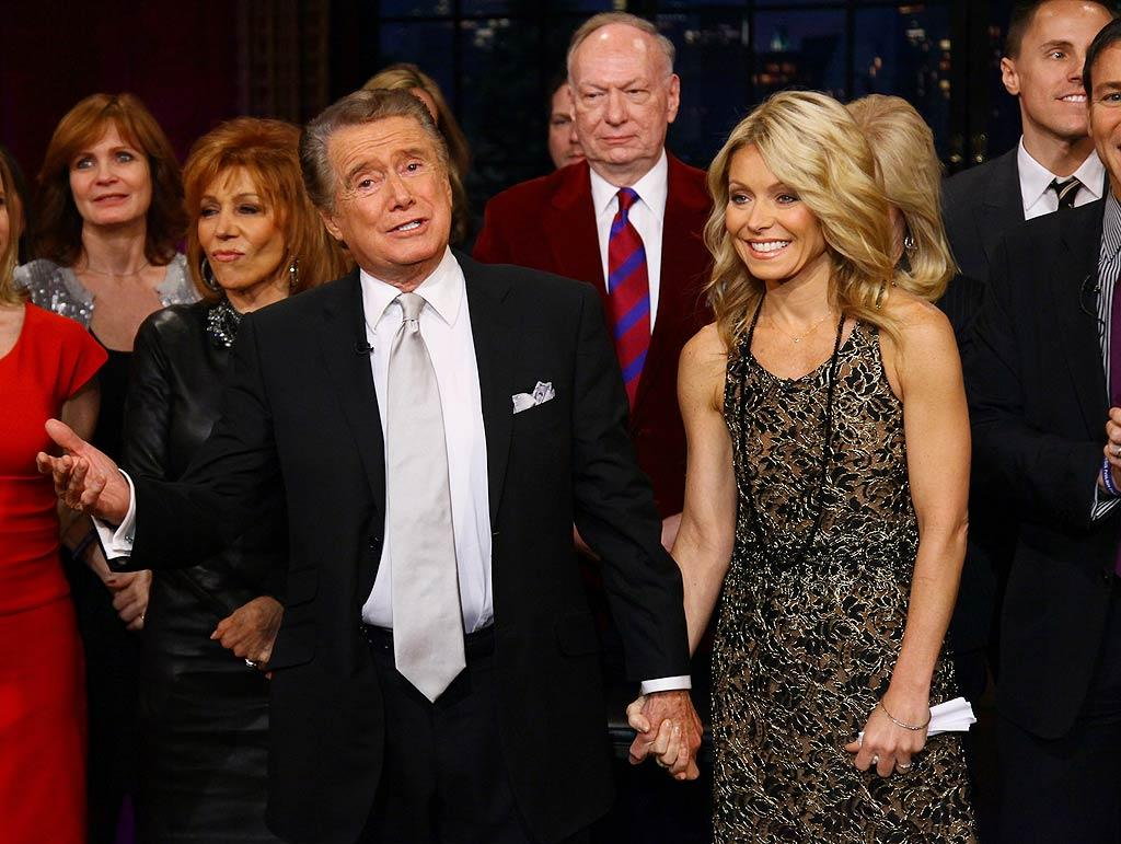 """After a whopping 29 seasons as co-host of multiple incarnations of """"Live! With Regis & Kelly,"""" Regis Philbin said goodbye with a special farewell episode on Friday, which kicked off the 80-year-old's well-deserved retirement. (11/18/2011)"""
