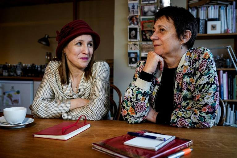 Fatima Ezzarhouni (L) and Sophie Pirson (R) 'connected immediately' as they shared their anguish