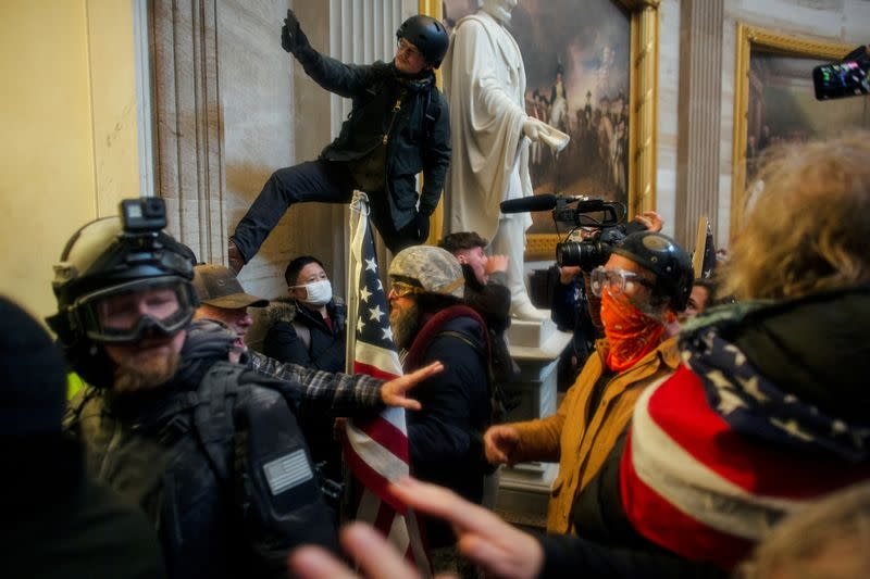 FILE PHOTO: Trump supporters breach the U.S. Capitol