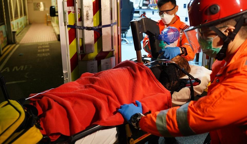 At least 18 people were rushed to hospital. Photo: SCMP