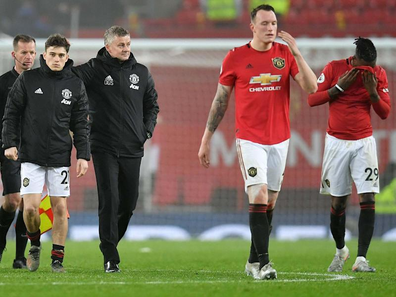 Manchester United were dejected following defeat by Burnley: Getty