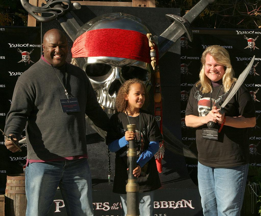 """Pirate fans attend the Disneyland California <a href=""""http://movies.yahoo.com/movie/1809791042/info"""">Pirates of the Caribbean: On Stranger Tides</a> trailer premiere event on December 13, 2010."""