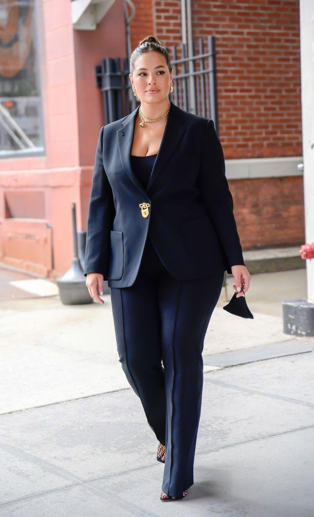 """<p>For her co-hosting gig on CBS This Morning, the model and mother-of-one stepped into a black suit that meant business. The 33-year-old paired the gold-detailed suit with gold jewellery and a pair of Bottega Veneta mesh pumps in black, which are shaping up to be a <a href=""""https://www.elle.com/uk/fashion/celebrity-style/articles/g16505/rihanna-s-style-file/?slide=2"""" rel=""""nofollow noopener"""" target=""""_blank"""" data-ylk=""""slk:shoe of the summer"""" class=""""link rapid-noclick-resp"""">shoe of the summer</a>.</p><p><a class=""""link rapid-noclick-resp"""" href=""""https://go.redirectingat.com?id=127X1599956&url=https%3A%2F%2Fwww.net-a-porter.com%2Fen-gb%2Fshop%2Fproduct%2Fbottega-veneta%2Flace-up-leather-trimmed-mesh-pumps%2F1305570&sref=https%3A%2F%2Fwww.elle.com%2Fuk%2Ffashion%2Fcelebrity-style%2Fg36540374%2Fashley-graham-style%2F"""" rel=""""nofollow noopener"""" target=""""_blank"""" data-ylk=""""slk:SHOP ASHLEY'S SHOES NOW"""">SHOP ASHLEY'S SHOES NOW</a></p>"""