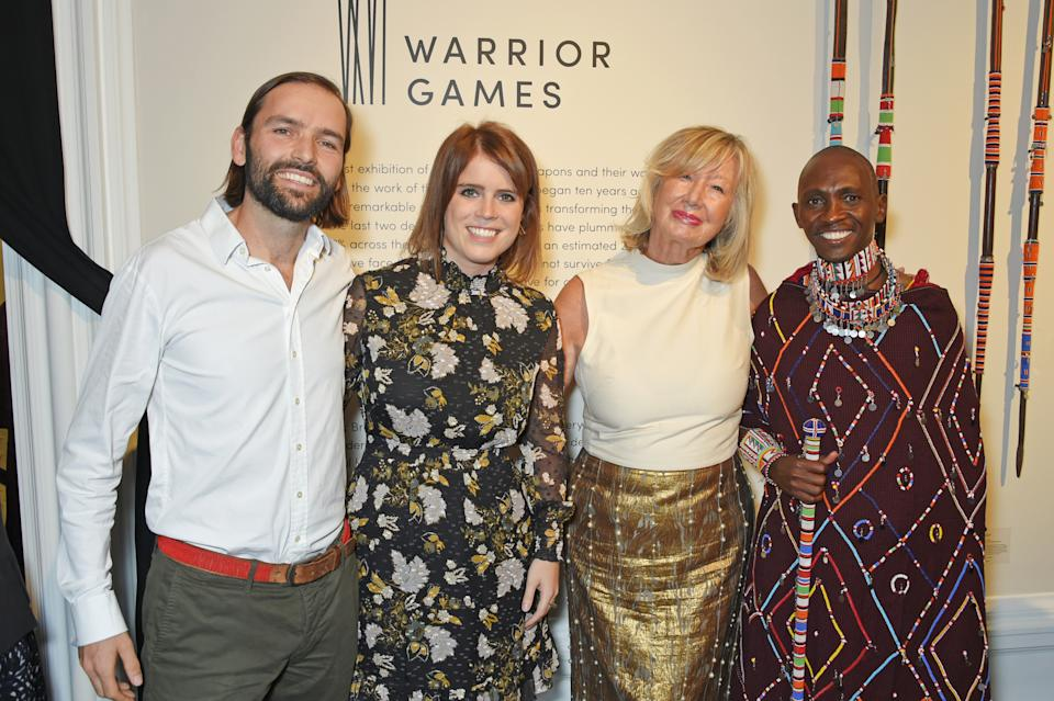 Jack Brockway, Princess Eugenie of York, Sylvie Chantecaille and Luke Mamai attend the Warrior Games Exhibition VIP preview party