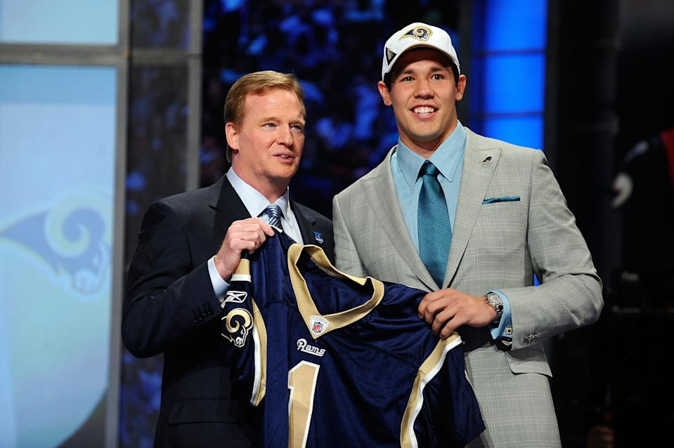 Sam Bradford was taken No. 1 overall by the Rams during the 2010 NFL Draft.
