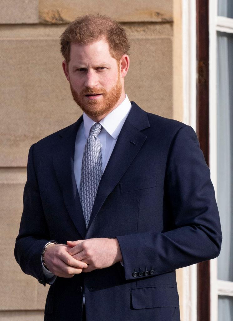 Prince Harry didn't answer questions about the future after being quizzed by reporters [Photo: Getty]