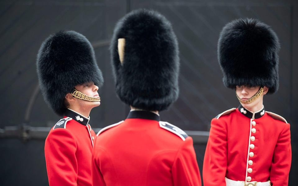 oung Grenadier Guardsmen in side the Tower of London - Heathcliff O'Malley