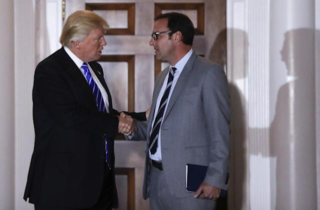 Todd Ricketts, right, won't seek a cabinet position within the Trump administration. (AP)