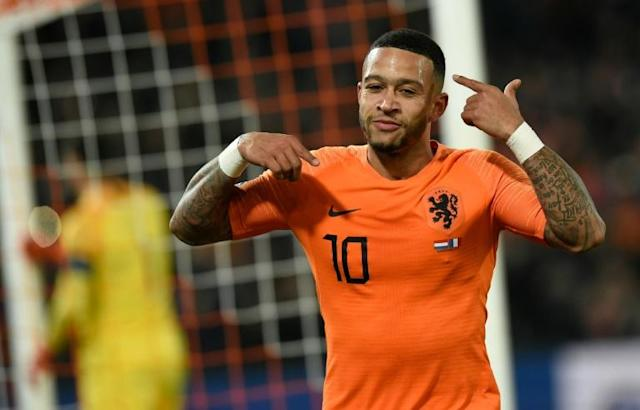 Netherlands forward Memphis Depay scored twice against Northern Ireland (AFP Photo/JOHN THYS )