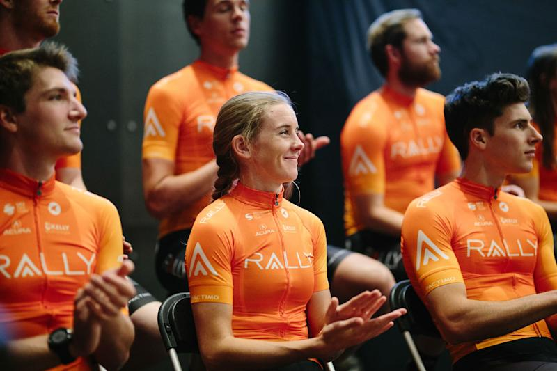 The 2020 Pactimo kits now have a subtle yellow dot pattern that blends into Rally orange.