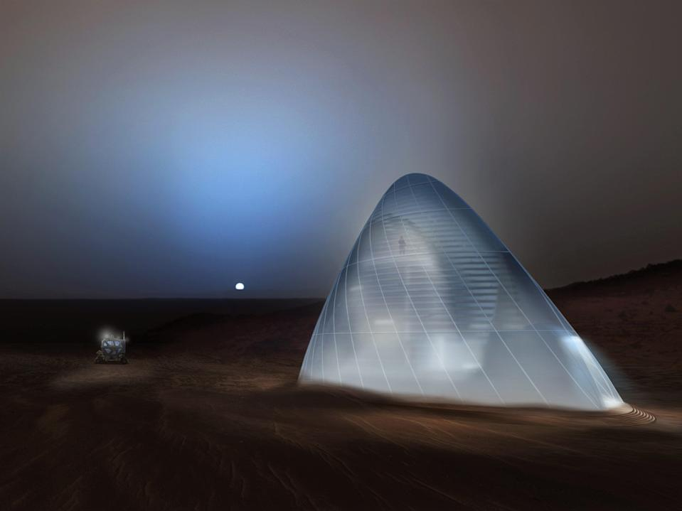 Early Mars colonies  will involve 'life in glass domes', according to SpaceX boss Elon Musk (Nasa)