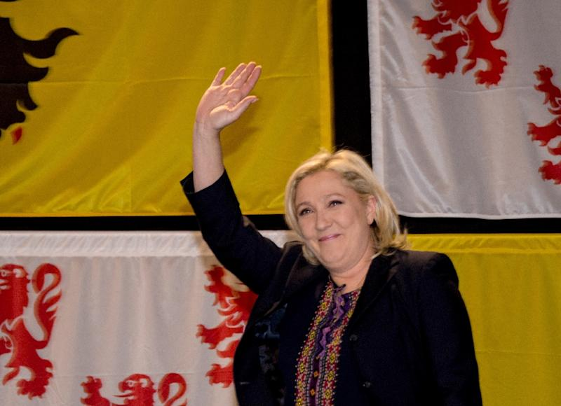 France' far-right Front National leader Marine Le Pen, pictured on December 13, 2015 in Henin Beaumont, sounded a typically defiant and vitriolic note, lashing out at the traditional parties for teaming up against her (AFP Photo/Denis Charlet)