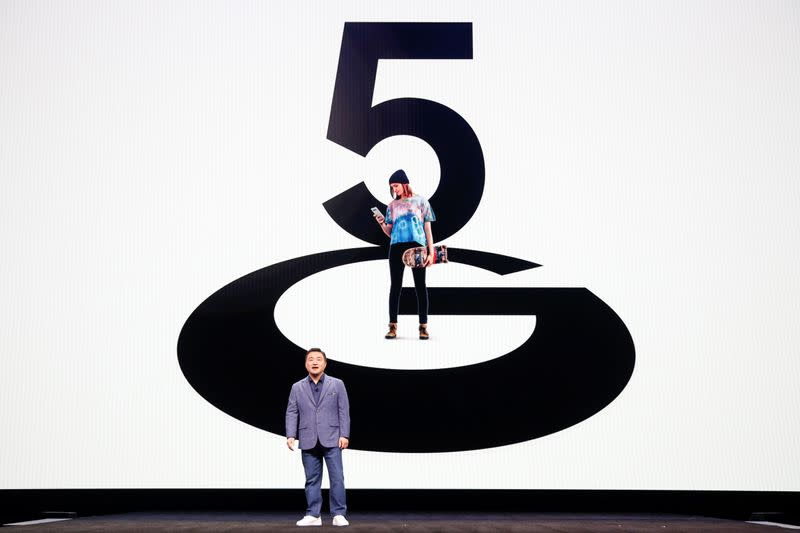 TM Roh of Samsung Electronics speaks on stage during Samsung Galaxy Unpacked 2020 in San Francisco