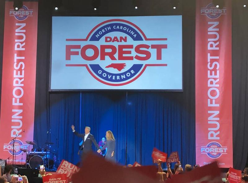 N.C. Lieutenant Governor Dan Forest kicked off his campaign for governor of North Carolina in Winston-Salem on Aug. 17, 2019.