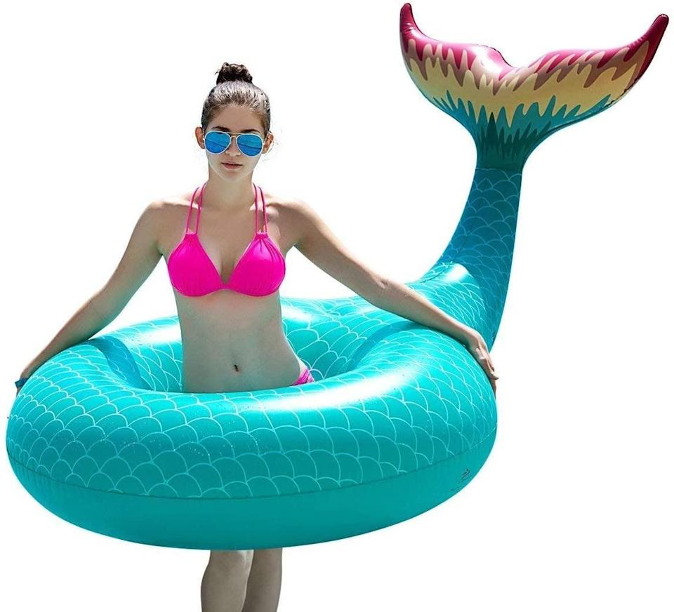 <p>We're so down for this <span>Jasonwell Giant Inflatable Mermaid Tail Pool Float Pool Tube</span> ($21).</p>