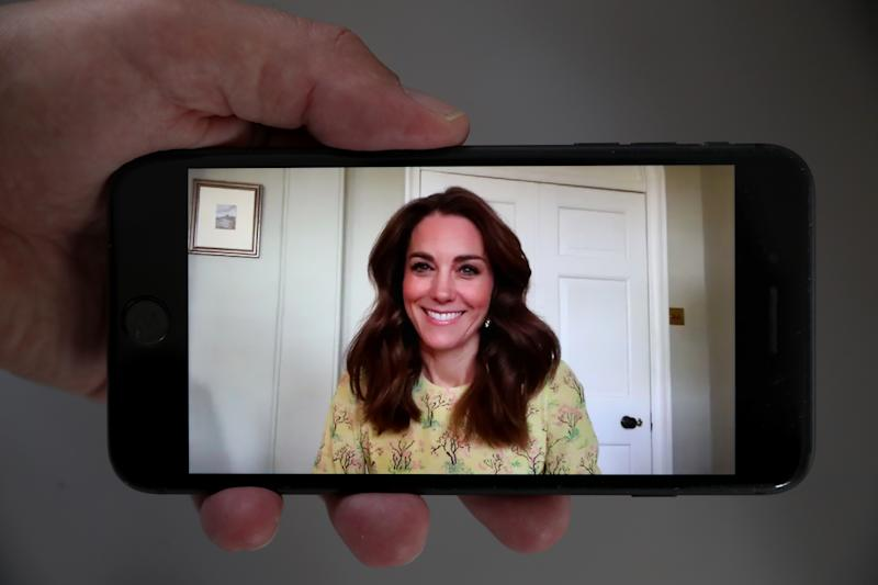 LONDON, ENGLAND - MAY 07: In this photo illustration, Catherine, Duchess of Cambridge launches her 'Hold Still' photography competition on May 07, 2020 in London, England. Hold Still, is a community photography project, in collaboration with the National Portrait Gallery, inviting people from across the UK to submit a photographic portrait taken during the Coronavirus outbreak. (Photo illustration by Chris Jackson/Getty Images)