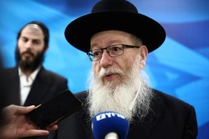 As Israel's health minister, ultra-Orthodox Jewish politician Yaakov Litzman has been thrown into the coronavirus limelight but his failure to persuade his own community of the dangers has drawn widespread crtiicism (AFP Photo/GALI TIBBON)