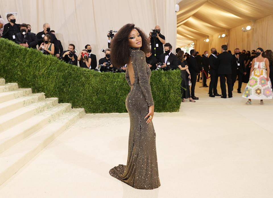 Keke Palmer stole the show with her hosting skills during the red carpet and she also stunned in this dress by Black American designer Sergio Hudson. The look was an homage to Motown icon Diana Ross.