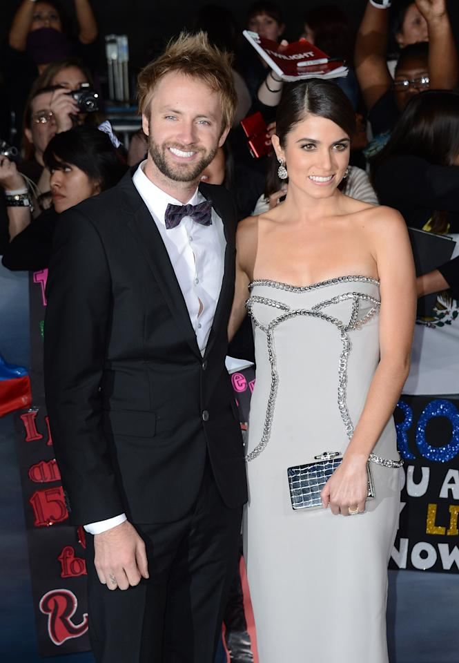 "LOS ANGELES, CA - NOVEMBER 12:  Singer Paul McDonald (L) and actress Nikki Reed arrive at the premiere of Summit Entertainment's ""The Twilight Saga: Breaking Dawn Part 2"" at Nokia Theatre L.A. Live on November 12, 2012 in Los Angeles, California.  (Photo by Michael Buckner/Getty Images)"