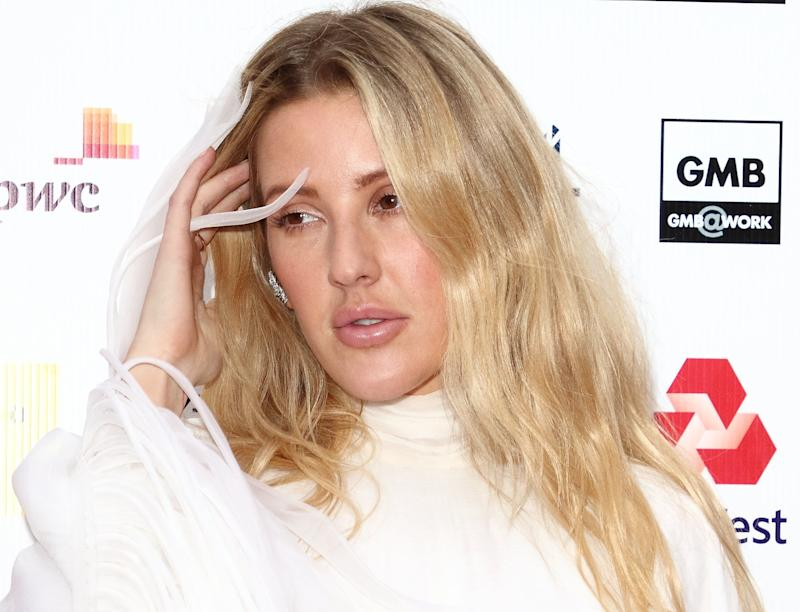 Ellie Goulding arrives on the red carpet at the British LGBT Awards at the London Marriott Hotel Grosvenor Square (Photo by Keith Mayhew / SOPA Images/Sipa USA)
