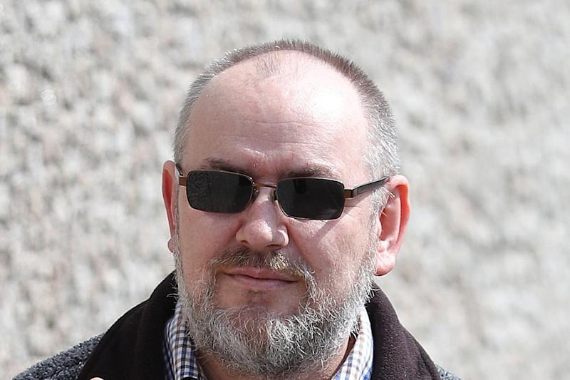 Arriving at court: Mark Sands: PA