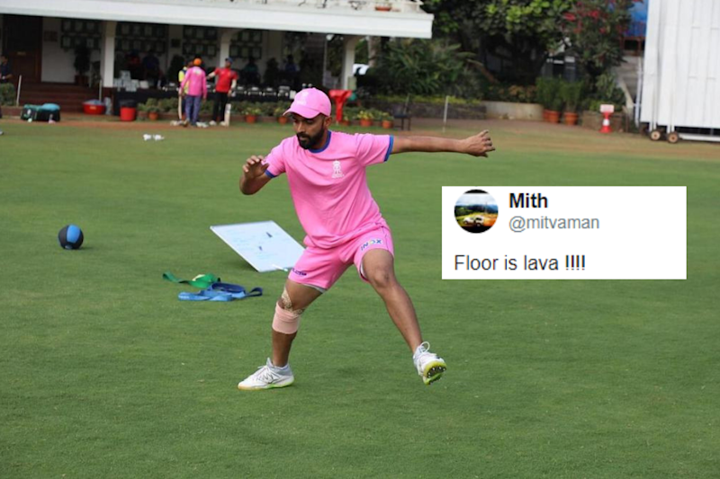 Ajinkya Rahane Posts Practice Picture Ahead of IPL and Twitter Has a Field Day