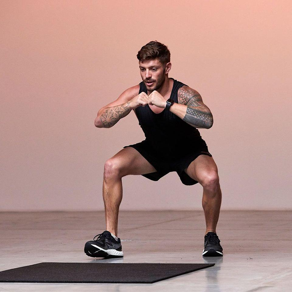 <p>Start in a wide and low squat stance. Pick up one foot walking forward. Repeat with other side, ensuring knees wide and squat low. Walk forward for 4 steps then reverse this for 4. Repeat.</p>