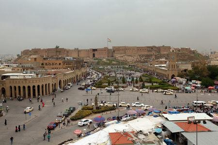 A general view shows the Citadel of Erbil in Erbil