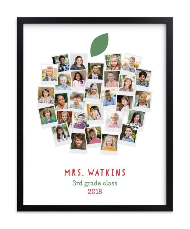 """<p><strong>Minted</strong></p><p>minted.com</p><p><strong>$24.00</strong></p><p><a href=""""https://go.redirectingat.com?id=74968X1596630&url=https%3A%2F%2Fwww.minted.com%2Fproduct%2Fphoto-art%2FMIN-ZT6-GCP%2Fapple-for-the-teacher&sref=https%3A%2F%2Fwww.goodhousekeeping.com%2Fholidays%2Fgift-ideas%2Fg32375872%2Fend-of-year-teacher-appreciation-gifts%2F"""" rel=""""nofollow noopener"""" target=""""_blank"""" data-ylk=""""slk:Shop Now"""" class=""""link rapid-noclick-resp"""">Shop Now</a></p><p><a href=""""https://www.goodhousekeeping.com/life/parenting/g27787916/best-first-day-of-school-signs/"""" rel=""""nofollow noopener"""" target=""""_blank"""" data-ylk=""""slk:First-day-of-school photos"""" class=""""link rapid-noclick-resp"""">First-day-of-school photos</a> get all the glory, but end-of-the-year photos show how much they've grown. Gift your teacher with a personalized poster of the entire class. You can get this in a range of sizes, from a desktop 5"""" x 7"""" ($24) to a huge 40"""" x 54"""" poster ($230). If you can swing it, you can make it extra special by getting each kid to sign their photo. </p>"""