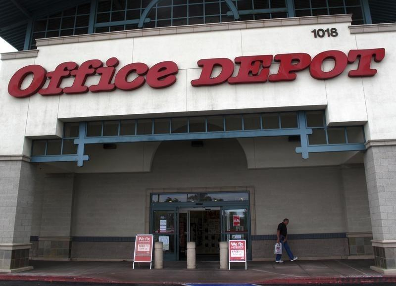 Office Depot store front is shwon in California