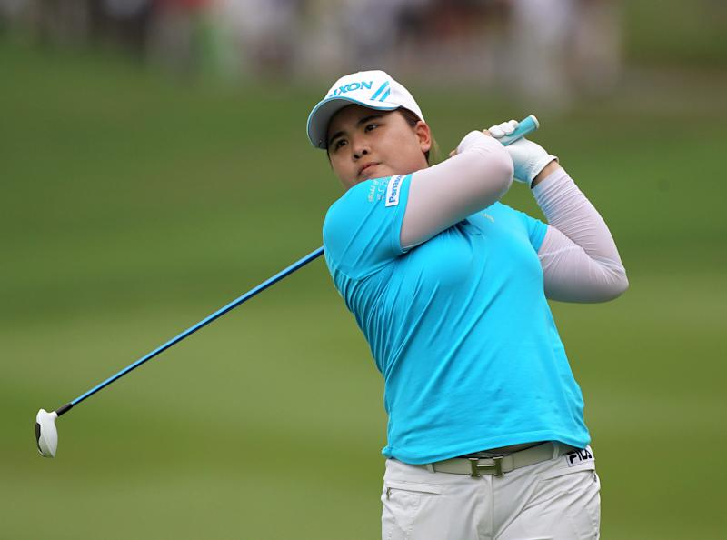 Inbee Park of South Korea plays a shot from a fairway during the final round of the LPGA Thailand golf tournament in Pattaya, southern Thailand, Sunday, Feb. 24, 2013. (AP Photo/Sakchai Lalit)