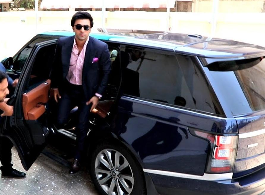 Ranbir likes to keep it classy with his deep blue LWB Range Rover that has tan leather interiors. It's his everyday car in which he is chauffeur-driven.