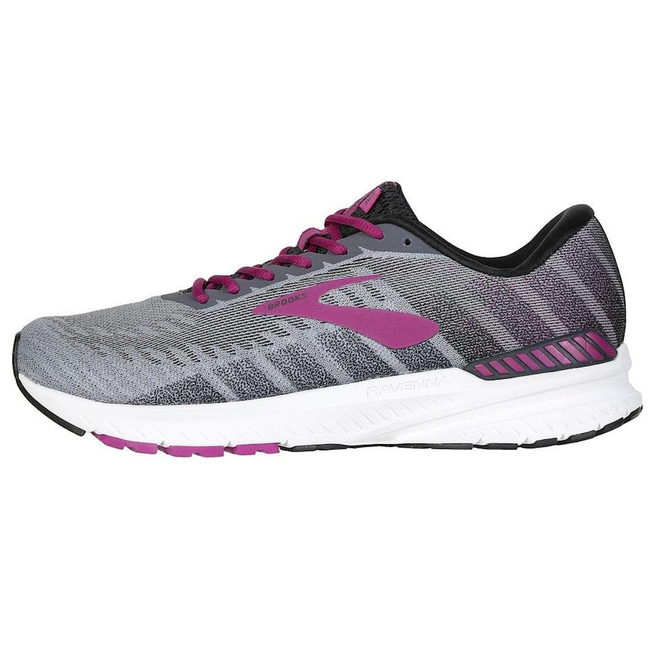 """Brooks Ravenna are my go-to shoes. They are light and comfortable but provide enough structure to keep my pronating feet in check. They last a good amount of miles. They come out with new models frequently that keep getting better, without changing the best bits of the shoe. <em>—Courtney Lorenz, sustainability manager</em> $110, Road Runner Sports. <a href=""""https://www.roadrunnersports.com/rrs/products/25572/womens-brooks-ravenna-10/"""" rel=""""nofollow noopener"""" target=""""_blank"""" data-ylk=""""slk:Get it now!"""" class=""""link rapid-noclick-resp"""">Get it now!</a>"""