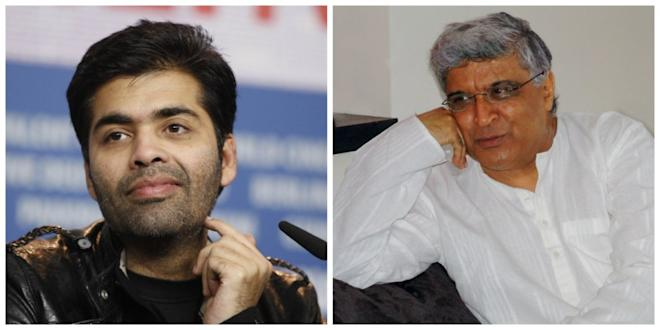 Karan Johar and Javed Akhtar