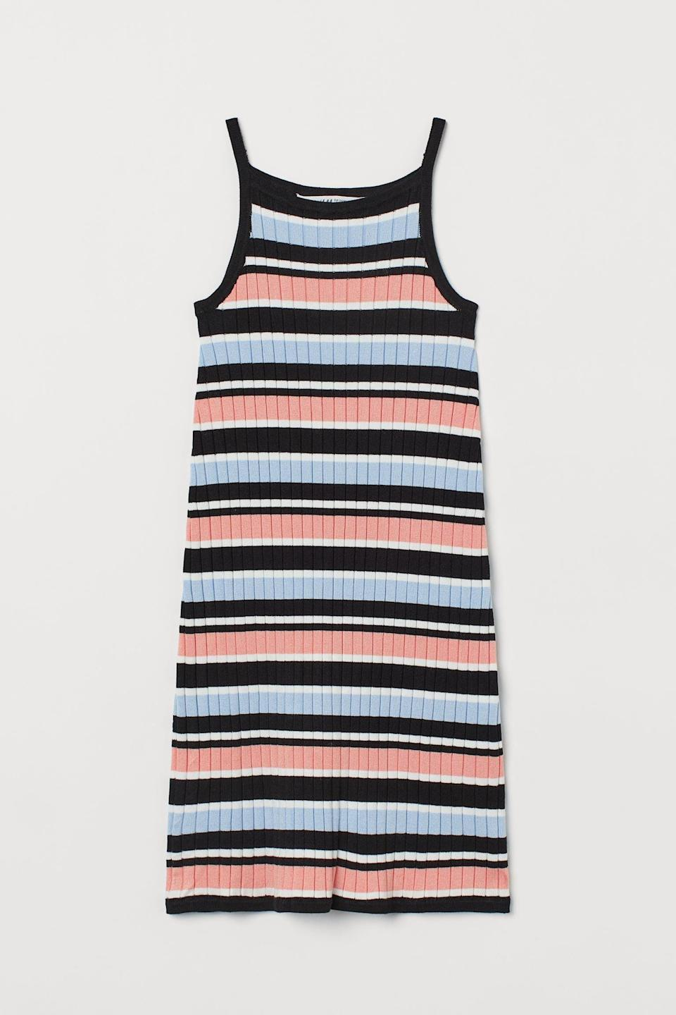 <p>For errands or casual hangouts, this <span>H&amp;M Ribbed Dress</span> ($20) will keep you comfortable.</p>