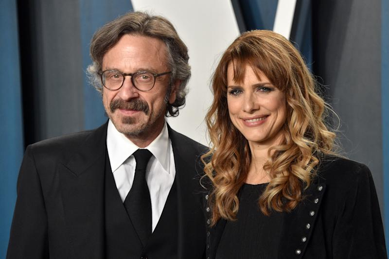 Marc Maron is speaking out on the death of his girlfriend, director Lynn Shelton (pictured with him at a 2020 Oscars party). (Photo: Gregg DeGuire/FilmMagic)