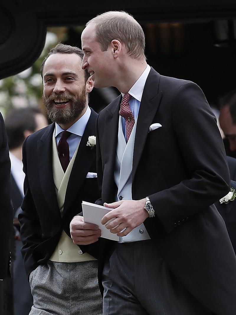 James Middleton pictured with Prince William (Getty Images)