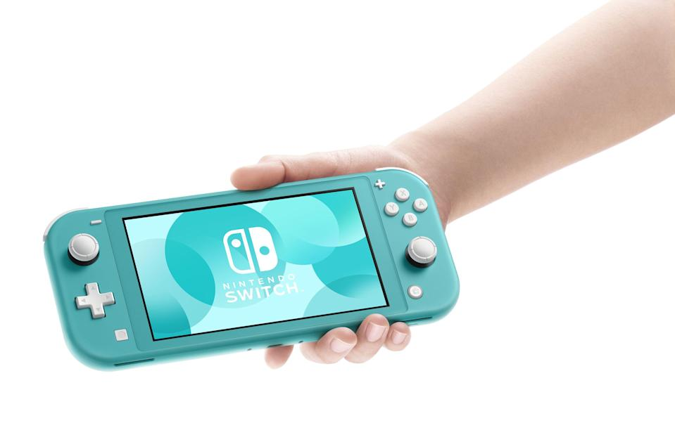 """<p><strong>Nintendo</strong></p><p>walmart.com</p><p><strong>$199.00</strong></p><p><a href=""""https://go.redirectingat.com?id=74968X1596630&url=https%3A%2F%2Fwww.walmart.com%2Fip%2F306029956&sref=https%3A%2F%2Fwww.goodhousekeeping.com%2Fholidays%2Fgift-ideas%2Fg28414150%2Fbest-gifts-for-teen-boys%2F"""" rel=""""nofollow noopener"""" target=""""_blank"""" data-ylk=""""slk:Shop Now"""" class=""""link rapid-noclick-resp"""">Shop Now</a></p><p>If he keeps co-opting the family TV with his gaming consoles, get him the Nintendo Switch Lite, which is designed for handheld play. It's expensive, but also $100 less than <a href=""""https://www.amazon.com/Nintendo-Switch-Neon-Blue-Joy%E2%80%91/dp/B07VGRJDFY?tag=syn-yahoo-20&ascsubtag=%5Bartid%7C10055.g.28414150%5Bsrc%7Cyahoo-us"""" rel=""""nofollow noopener"""" target=""""_blank"""" data-ylk=""""slk:the full Nintendo Switch"""" class=""""link rapid-noclick-resp"""">the full Nintendo Switch</a>, which comes with both handheld and console modes of play.</p>"""