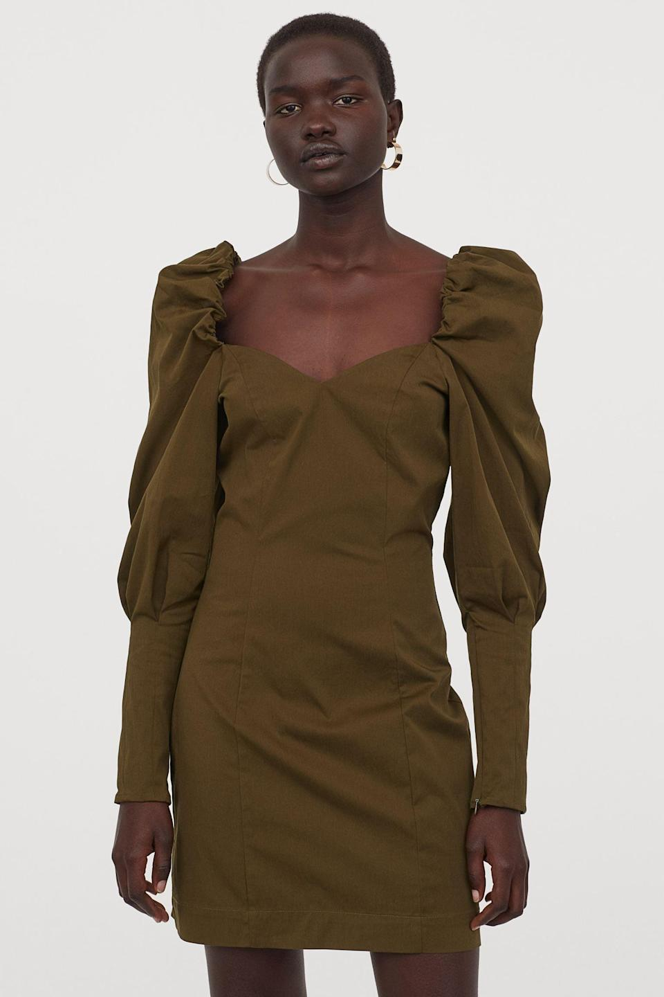 <p>Date night anyone? This elegantly feminine <span>Puff-sleeved Dress</span> ($60) will turn heads for sure.</p>