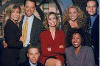 """<p>Ally was originally intended to marry Robert Downey Jr.'s character, Larry Paul, in <a href=""""http://mentalfloss.com/article/68226/15-quirky-facts-about-ally-mcbeal"""" rel=""""nofollow noopener"""" target=""""_blank"""" data-ylk=""""slk:the finale of the show's fourth season"""" class=""""link rapid-noclick-resp"""">the finale of the show's fourth season</a>. But Robert's issues with the law forced writers to cut short his time on the show and the wedding episode ended up being about a high schooler (Josh Groban) suing a girl who dumped him right before prom.</p>"""