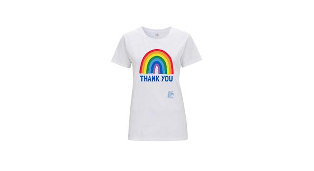 Little Mistress X Kindred Rainbow Thank you NHS Unisex White Classic Jersey T-Shirt