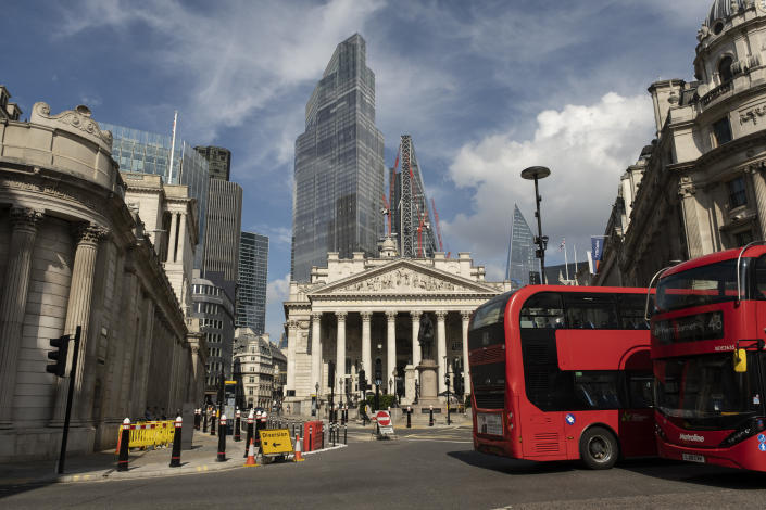 The City of London financial district. Photo: Mike Kemp/In Pictures via Getty Images