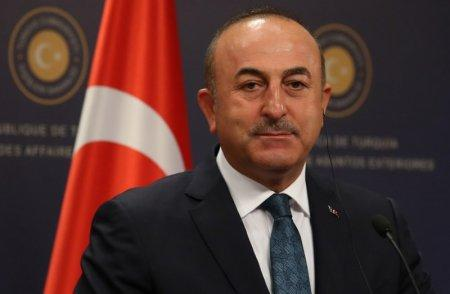 Turkish Foreign Minister Mevlut Cavusoglu attends a news conference in Ankara, Turkey, October 24, 2017. REUTERS/Umit Bektas