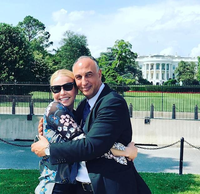 "<p><span>Does the funny lady have a new man? Nah, she's just keeping her new tradition going. ""Whenever I go to D.C., I like to hug an immigrant in front of the White House,"" she explained. ""You can hire him as your driver at U.S. Sedan. Abdallah Der Der is his name and driving is his game."" (Photo:<span> <a href=""https://www.instagram.com/p/BUSU71fg6O3/"" rel=""nofollow noopener"" target=""_blank"" data-ylk=""slk:Chelsea Handler"" class=""link rapid-noclick-resp"">Chelsea Handler </a></span>via Instagram)</span> </p>"