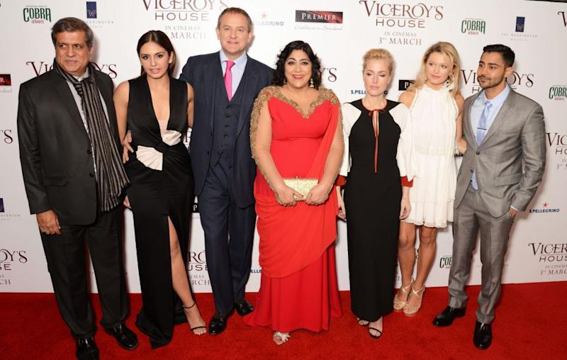 Gurinder pictured with the cast of Viceroy's House at the London premiere. Source: Getty