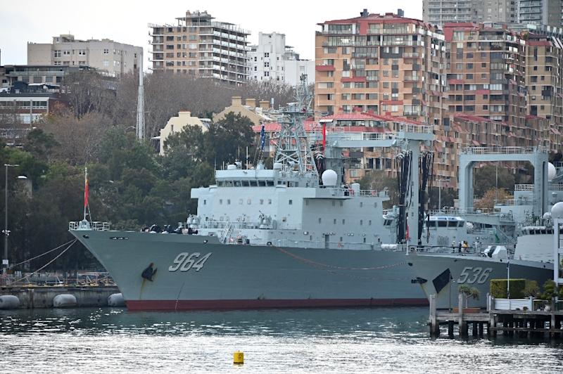 Heightened concern : Chinese warships cause surprise in Sydney Harbour
