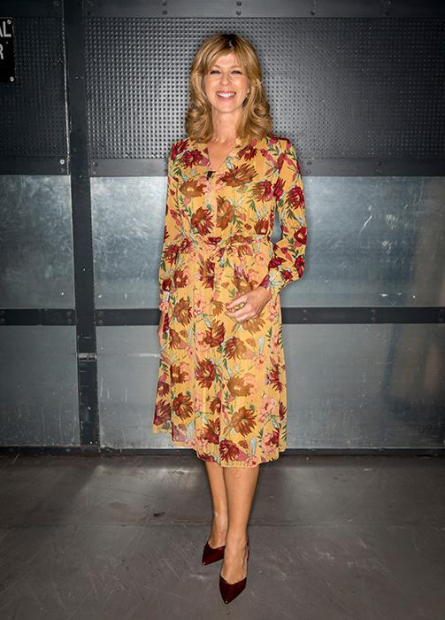 ac2fc5b826f ... just wore THAT Marks   Spencer spotted jumpsuit. kate-garraway-yellow-dress.  kate-garraway-yellow-dress