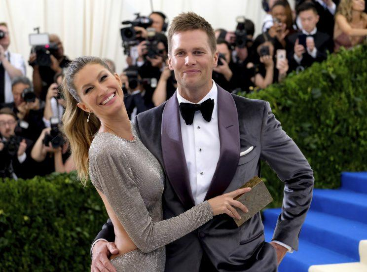 Tom Brady and his wife, supermodel Gisele. (AP)