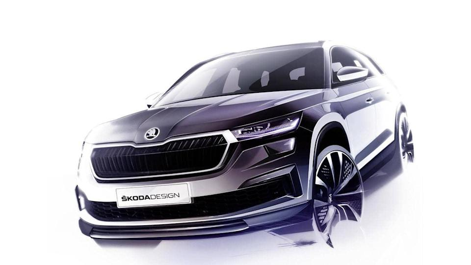 Ahead of debut, 2021 SKODA KODIAQ previewed in official sketches